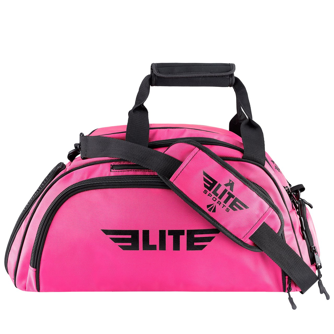 Elite Sports Warrior Series Large Pink Boxing MMA BJJ Gear Gym Duffel Bag & Backpack