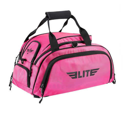 Elite Sports Warrior Series Pink Medium Duffel MMA Gear Gym Bag & Backpack