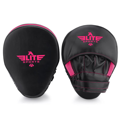 Elite Sports Essential Curved Black/Pink MMA Punching Mitts