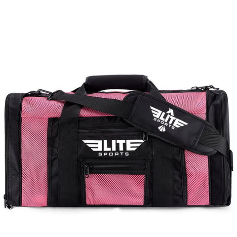 Elite Sports Mesh Pink Large Karate Gear Gym Bag