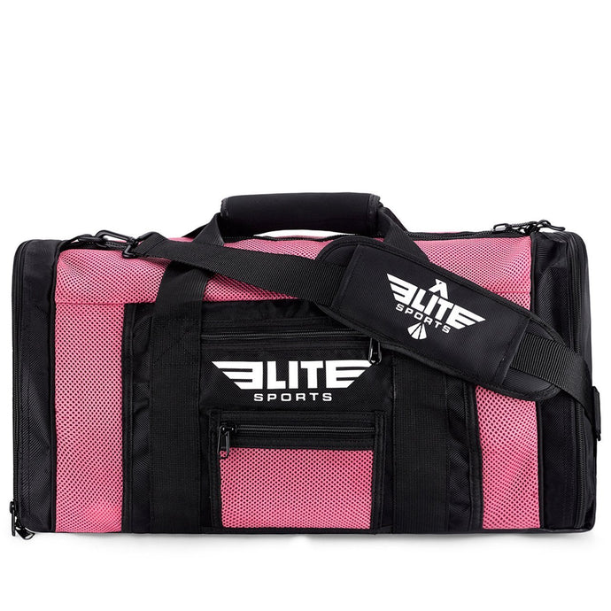 Elite Sports Mesh Pink Large Training Gear Gym Bag