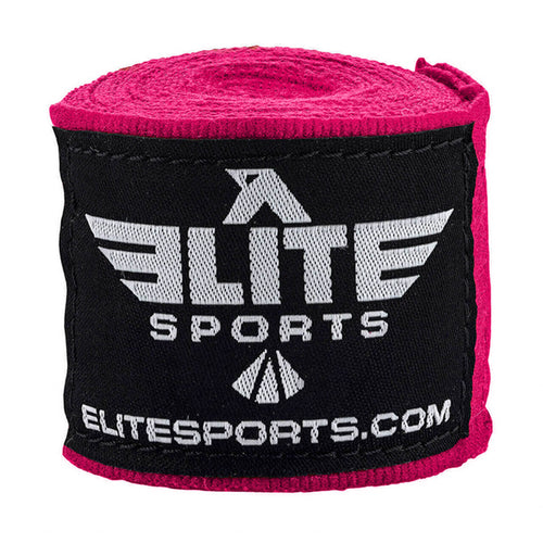 Elite Sports Pink Muay Thai Hand Wraps