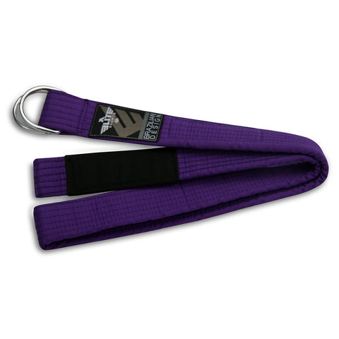 Elite Sports Adult Brazilian Jiu Jitsu BJJ Purple Belt with Buckle
