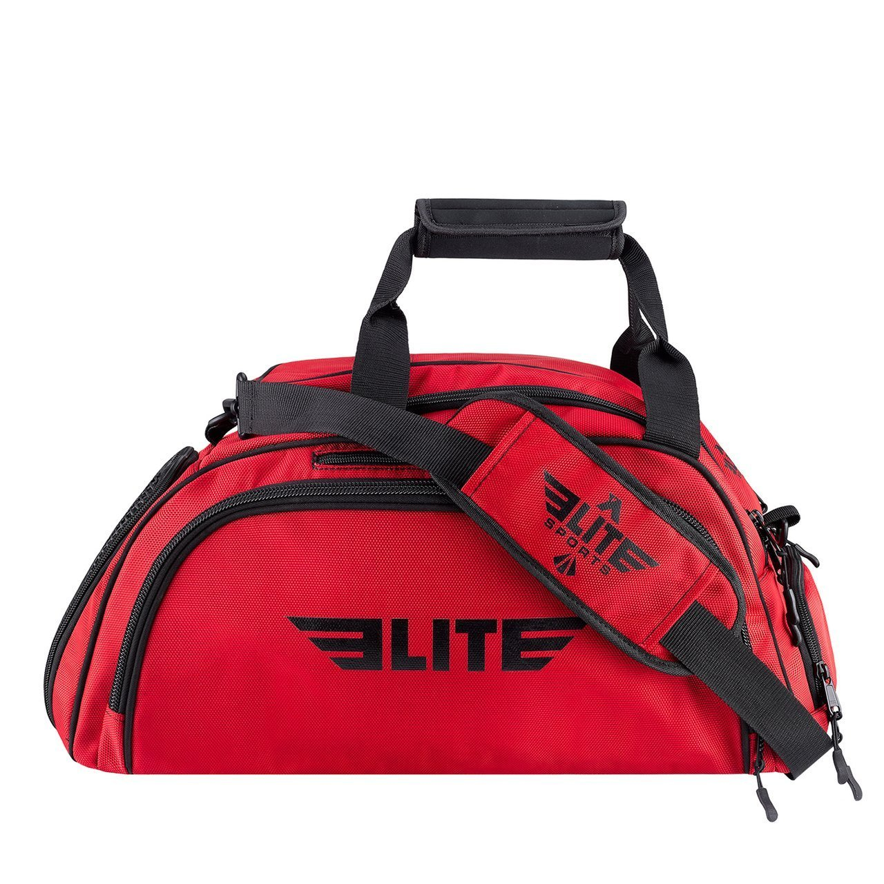 Elite Sports Warrior Series Red Medium Duffel Wrestling Gear Gym Bag & Backpack