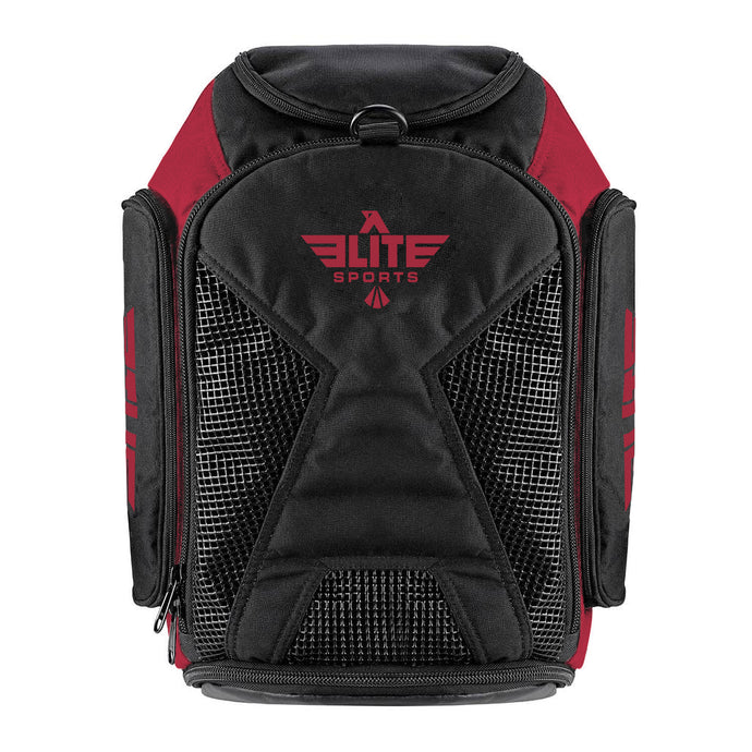 Elite Sports Athletic Convertible Red Training Gear Gym Bag & Backpack