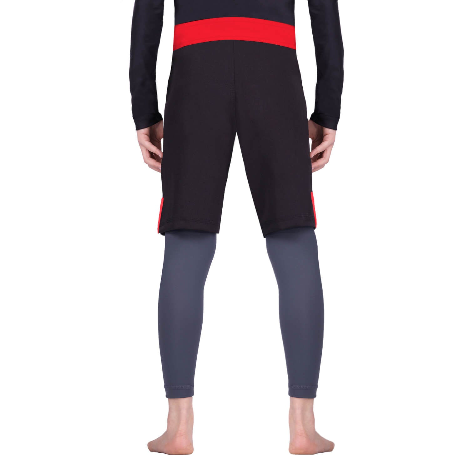 Load image into Gallery viewer, Elite Sports Jack Series Black/Red Kids Bjj NO-GI Shorts