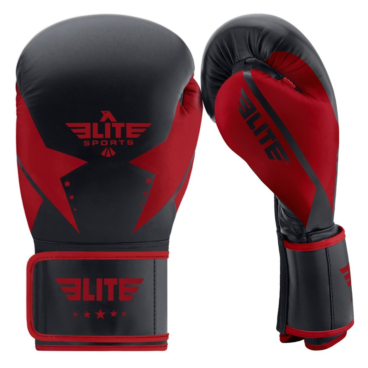 Elite Sports Star Series Black/Red Adult Boxing Gloves