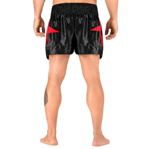 Elite Sports Star Series Sublimation Black/Red Muay Thai Shorts