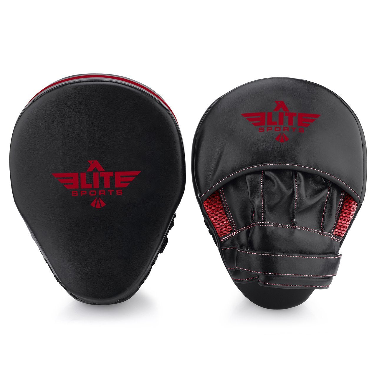 Elite Sports Essential Curved Black/Red Training Punching Mitts