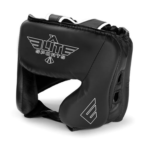 Elite Sports Standard Series Sparring Black/White Muay Thai Headgear