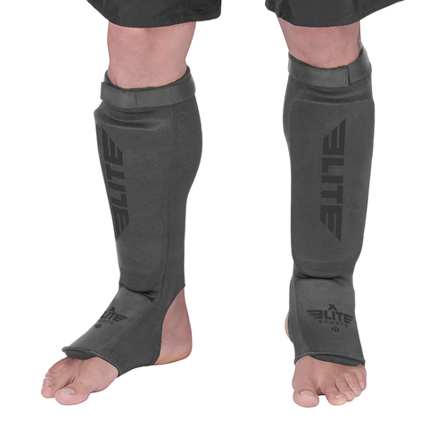 Elite Sports Standard Gray MMA Shin Guards