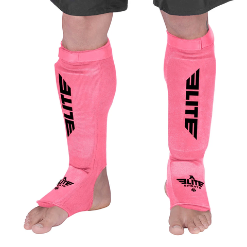 Elite Sports Standard Pink Wrestling Shin Guards