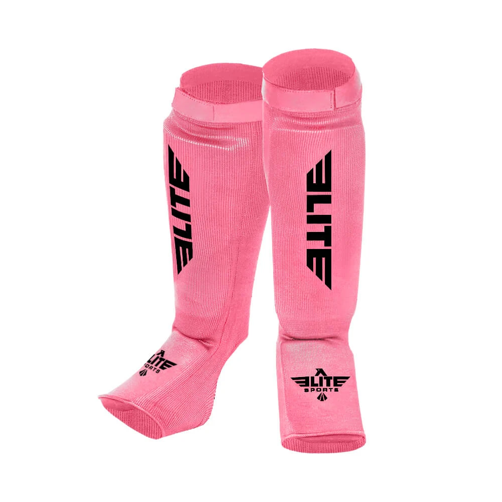 Elite Sports Standard Pink Karate Shin Guards