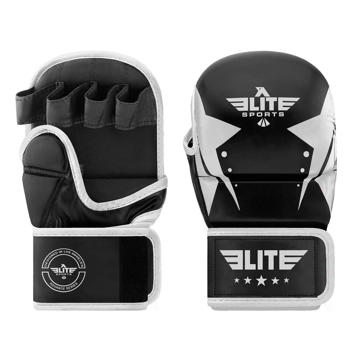 Elite Sports Star Series Black/Silver MMA Grappling Gloves