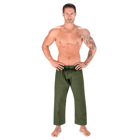 Elite Sports Military Green Adult Brazilian Jiu Jitsu BJJ Pant