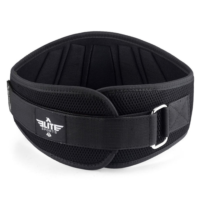 Elite Sports Black Back Support Weight Lifting Belt