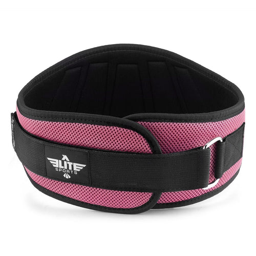 Elite Sports Pink Back Support Weight Lifting Belt