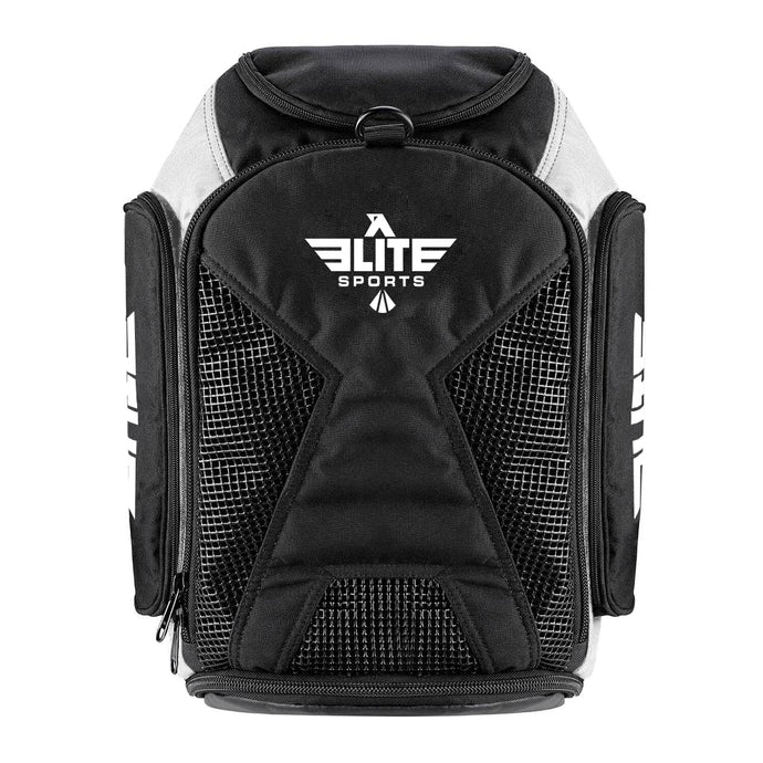 Elite Sports Athletic Convertible White Wrestling Gear Gym Bag & Backpack