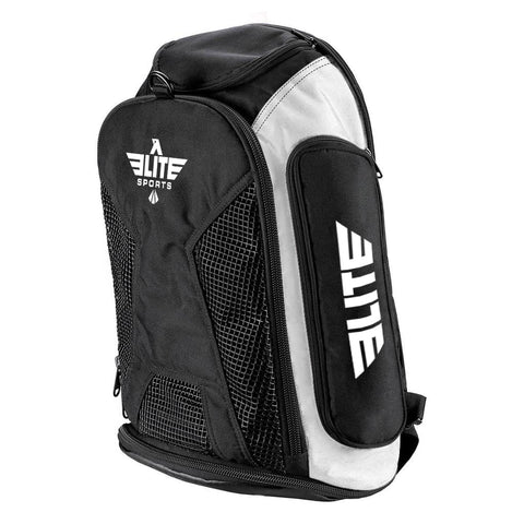 Elite Sports Athletic Convertible White Training Gear Gym Bag & Backpack