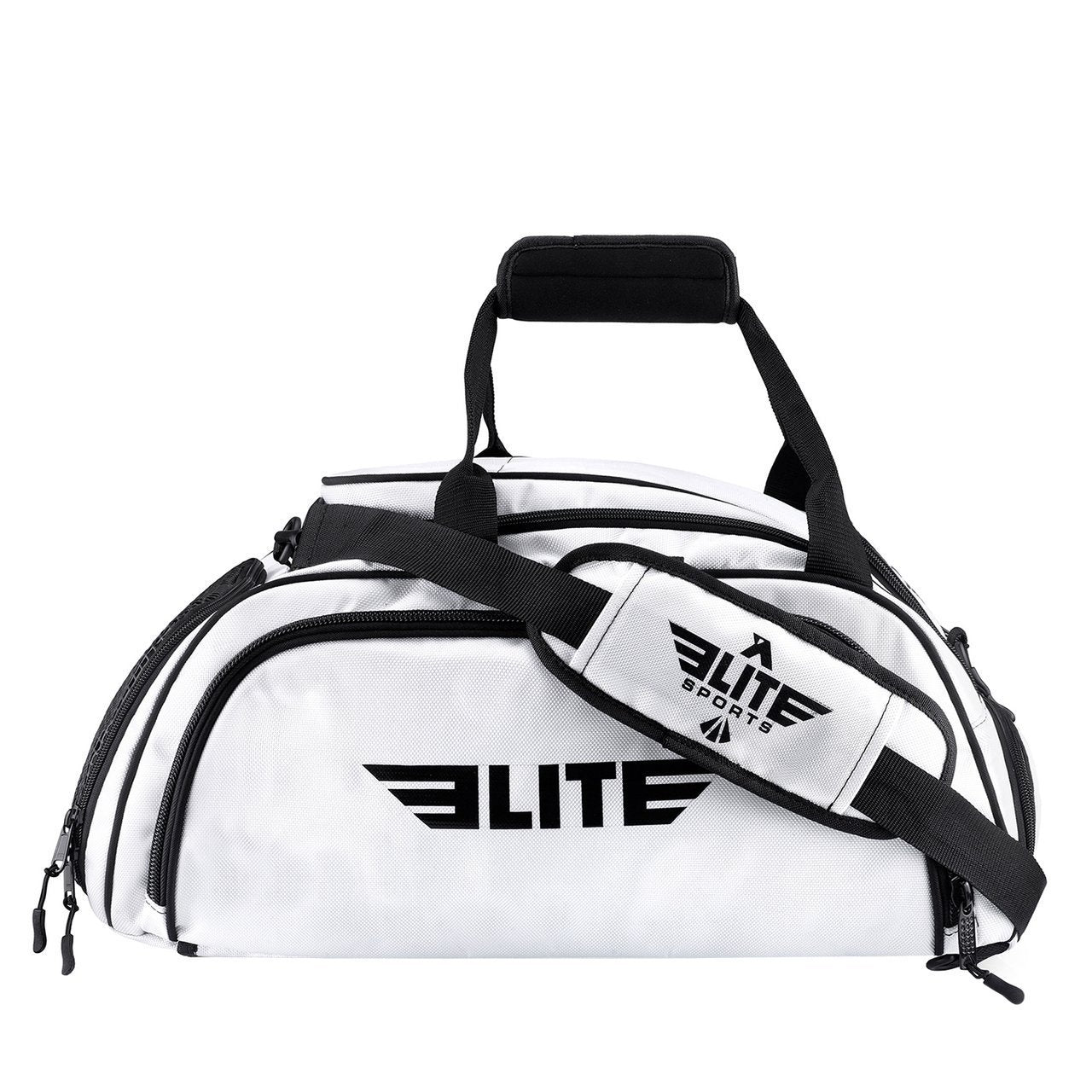 Elite Sports Warrior Series White Medium Duffel Brazilian Jiu Jitsu BJJ Gear Gym Bag & Backpack