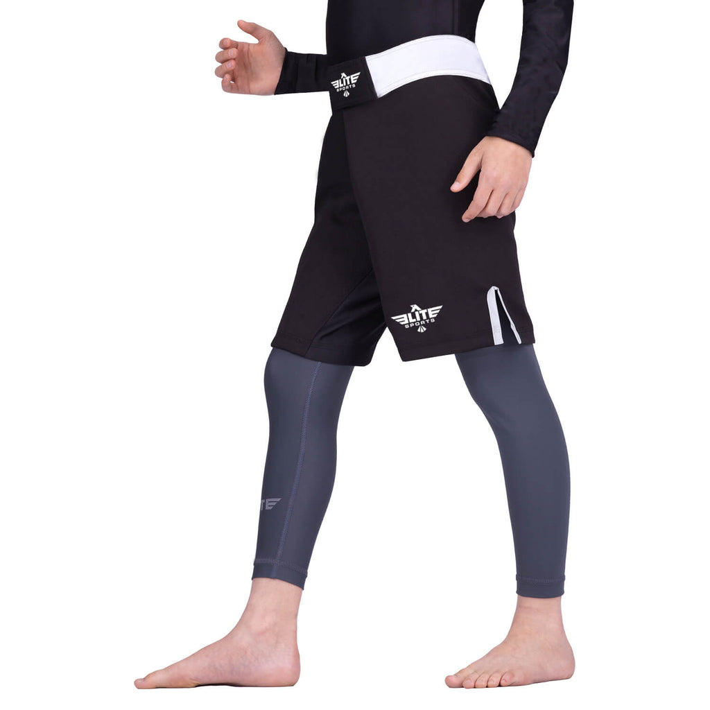 Elite Sports Jack Series White Kids MMA Shorts