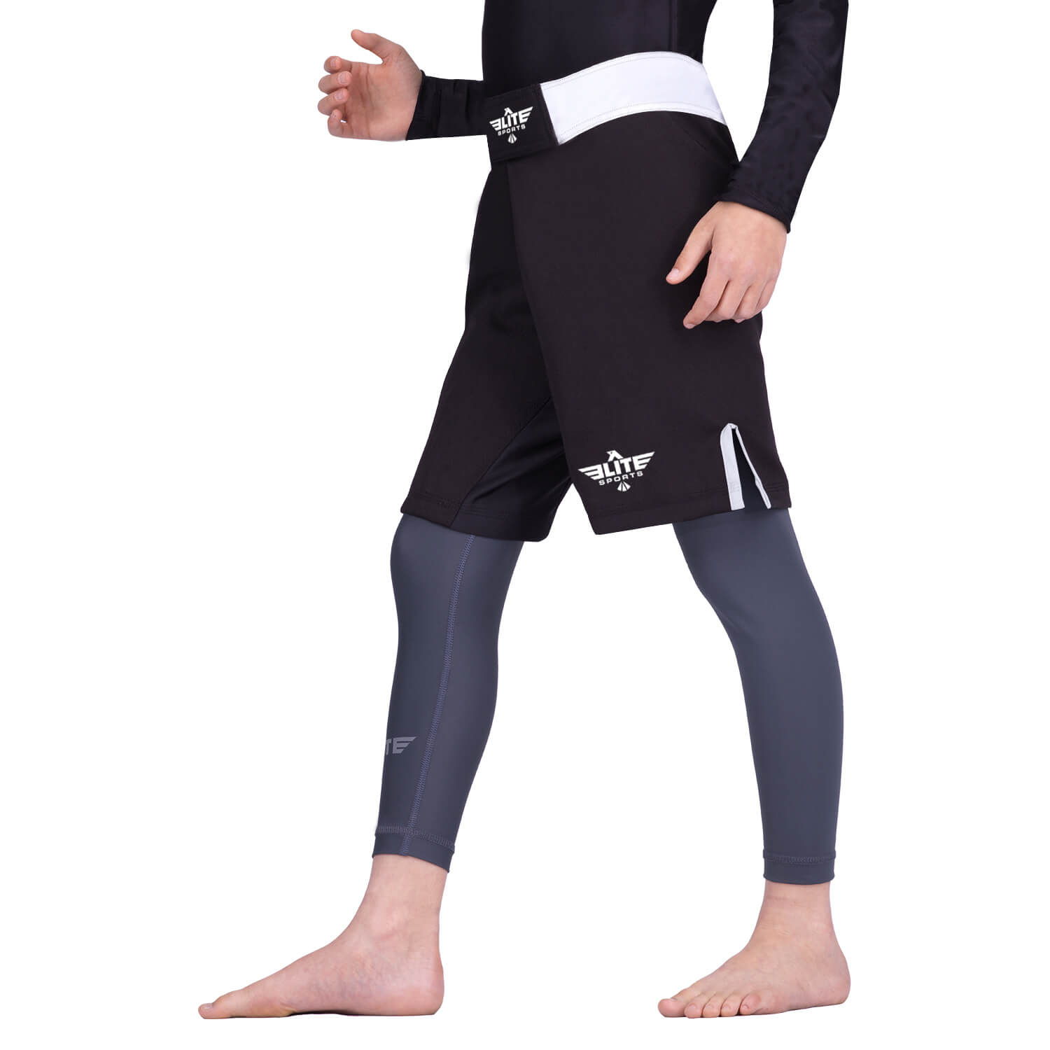 Load image into Gallery viewer, Elite Sports Jack Series White Kids MMA Shorts