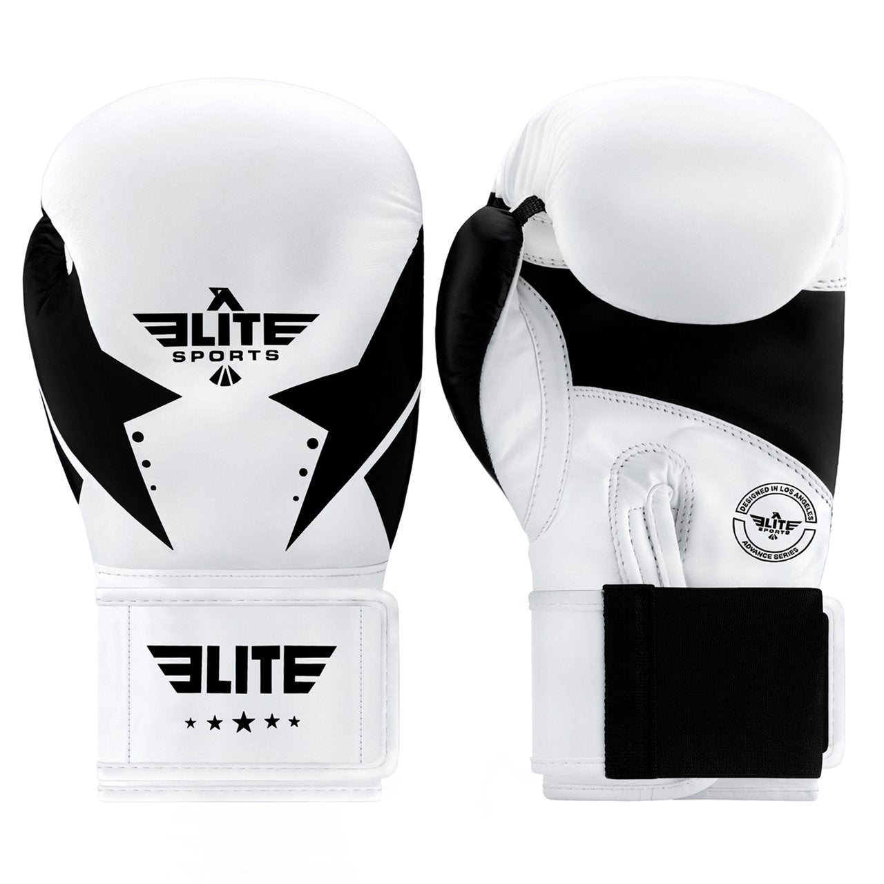 Load image into Gallery viewer, Elite Sports Star Series White/Black Adult Boxing Boxing Gloves