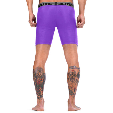 Elite Sports Purple Compression Wrestling Shorts
