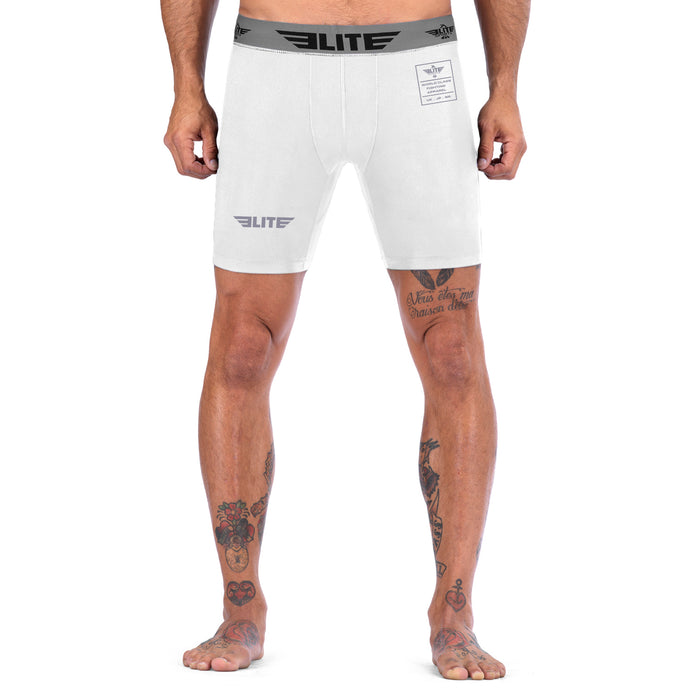 Elite Sports White Compression Judo Shorts