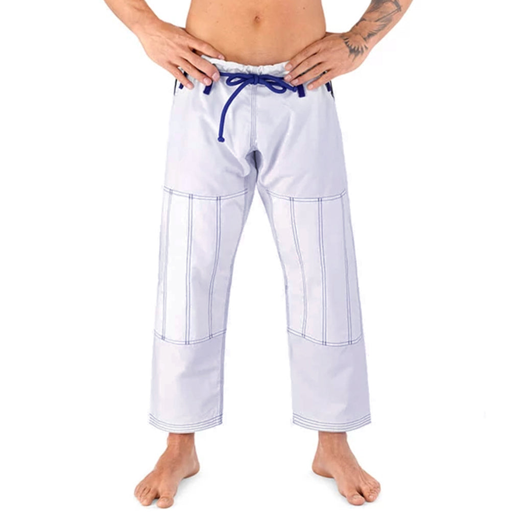 Elite Sports White Adult Brazilian Jiu Jitsu BJJ Pant