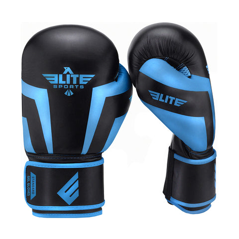 Elite Sports Standard Series Black/Blue Adult Boxing Gloves
