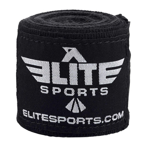 Elite Sports Black Muay Thai Hand Wraps