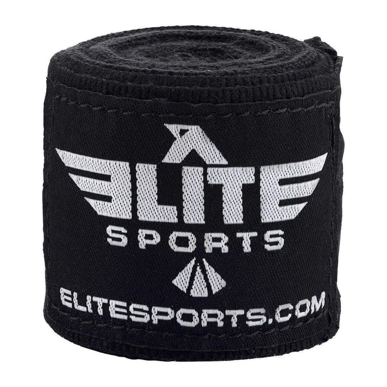 Elite Sports Black Boxing Hand Wraps