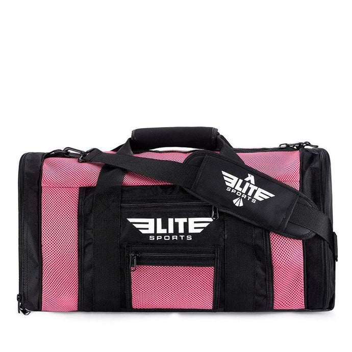 Elite Sports Mesh Pink Medium MMA Gear Gym Bag