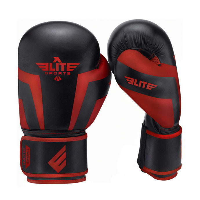 Elite Sports Standard Series Black/Red Kids Boxing Gloves
