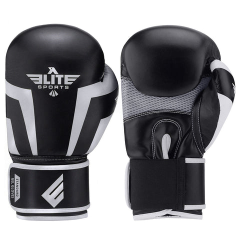 Elite Sports Standard Series Black/Gray Kids Boxing Gloves