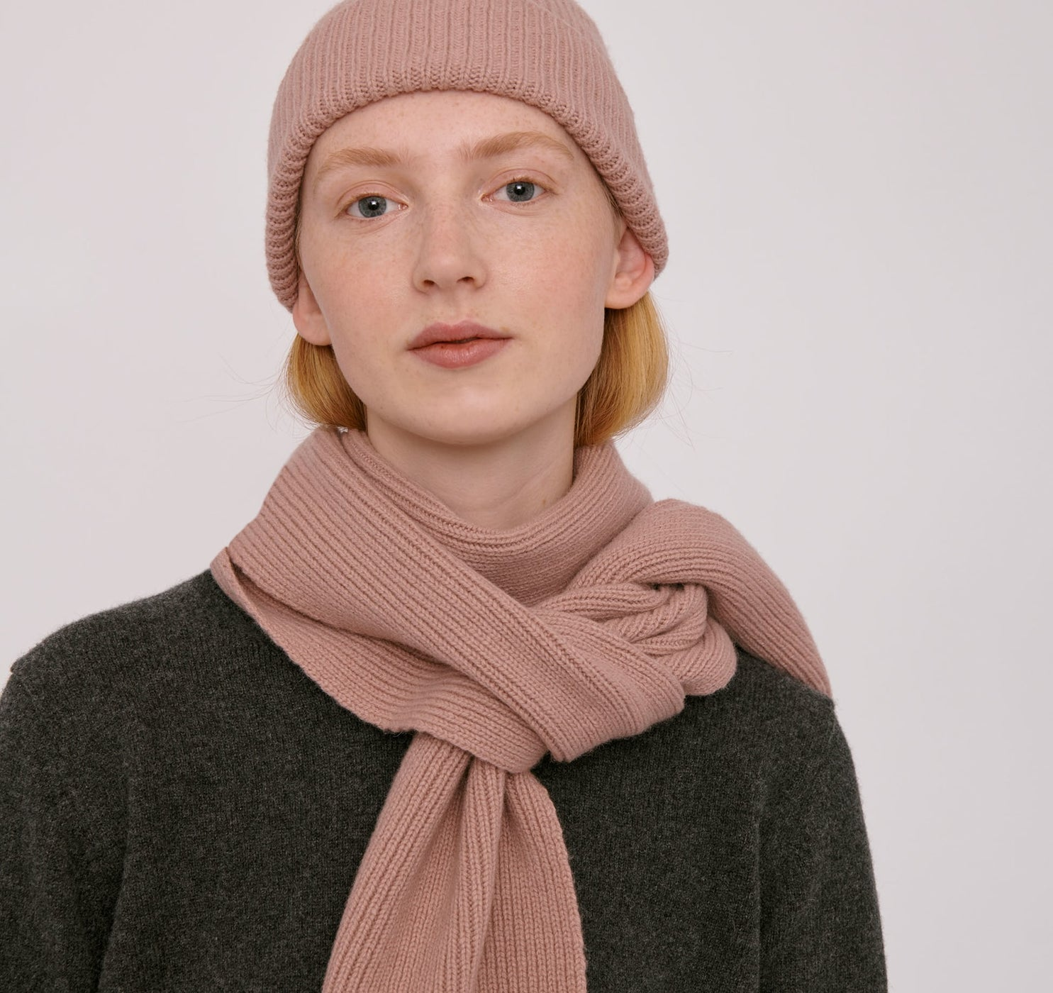 Recycled Wool Rib Scarf