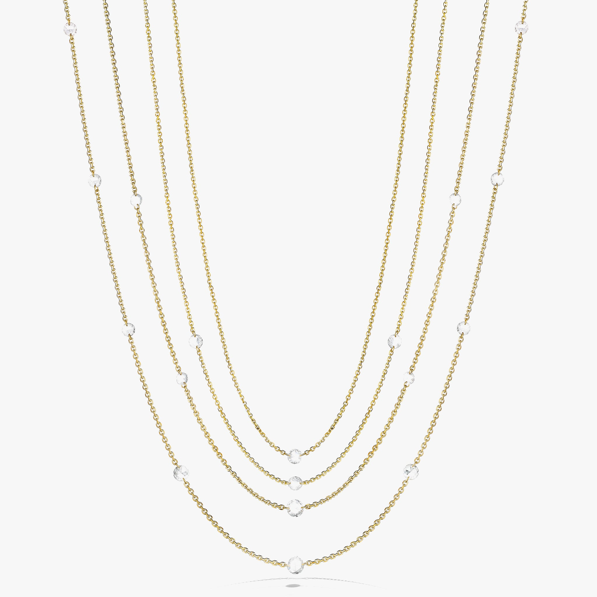Group-Shot-Rosette-Necklaces_18k Yellow Gold