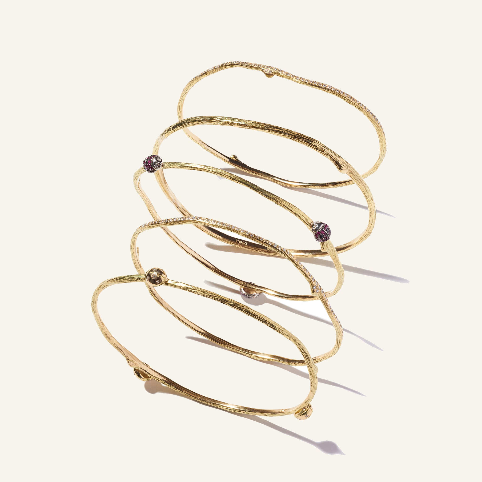 Mimi-So-Wonderland-Diamond-Twig-Bangle-Bracelets-18k-Yellow-Gold