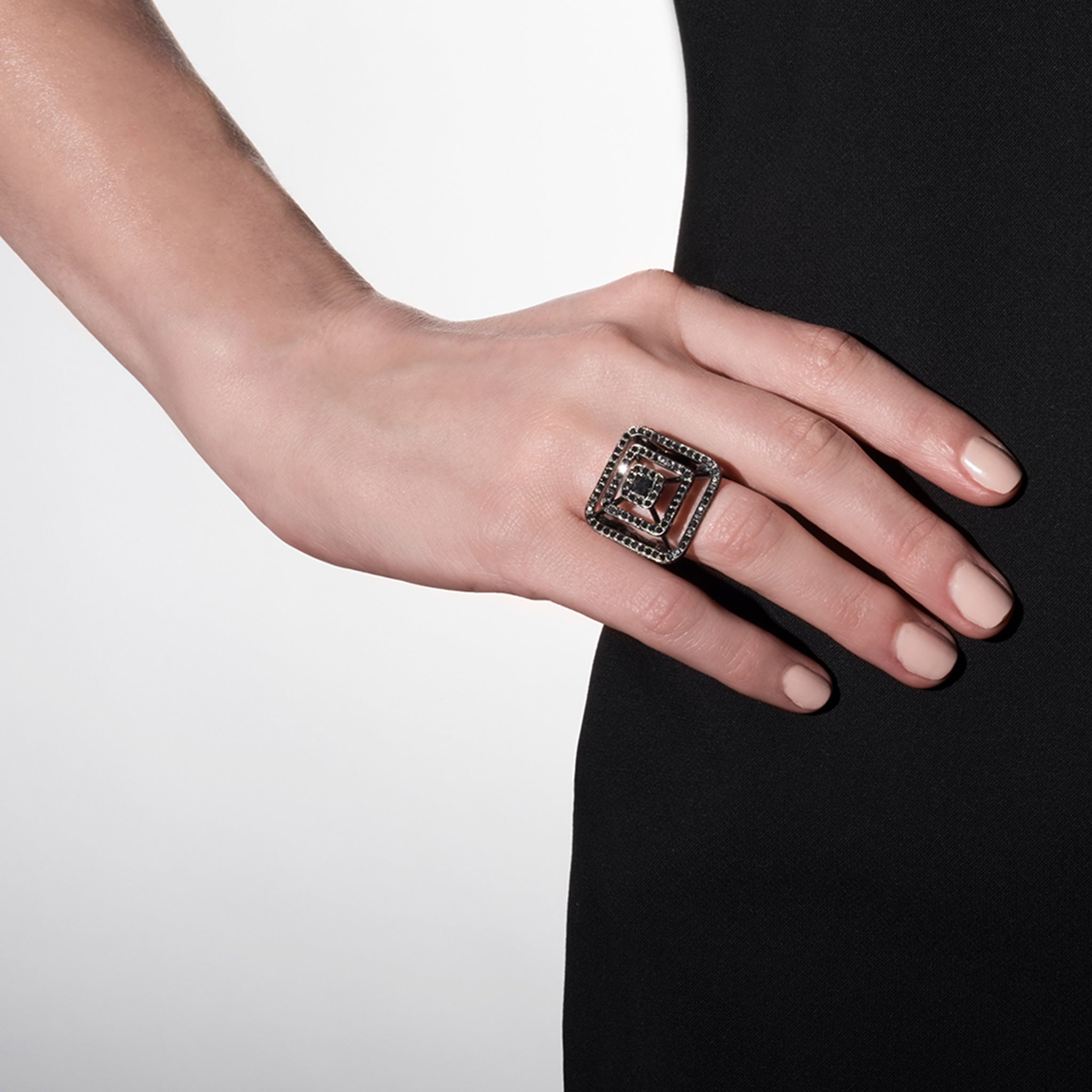 Mimi So Piece Pyramid Diamond Ring - Large