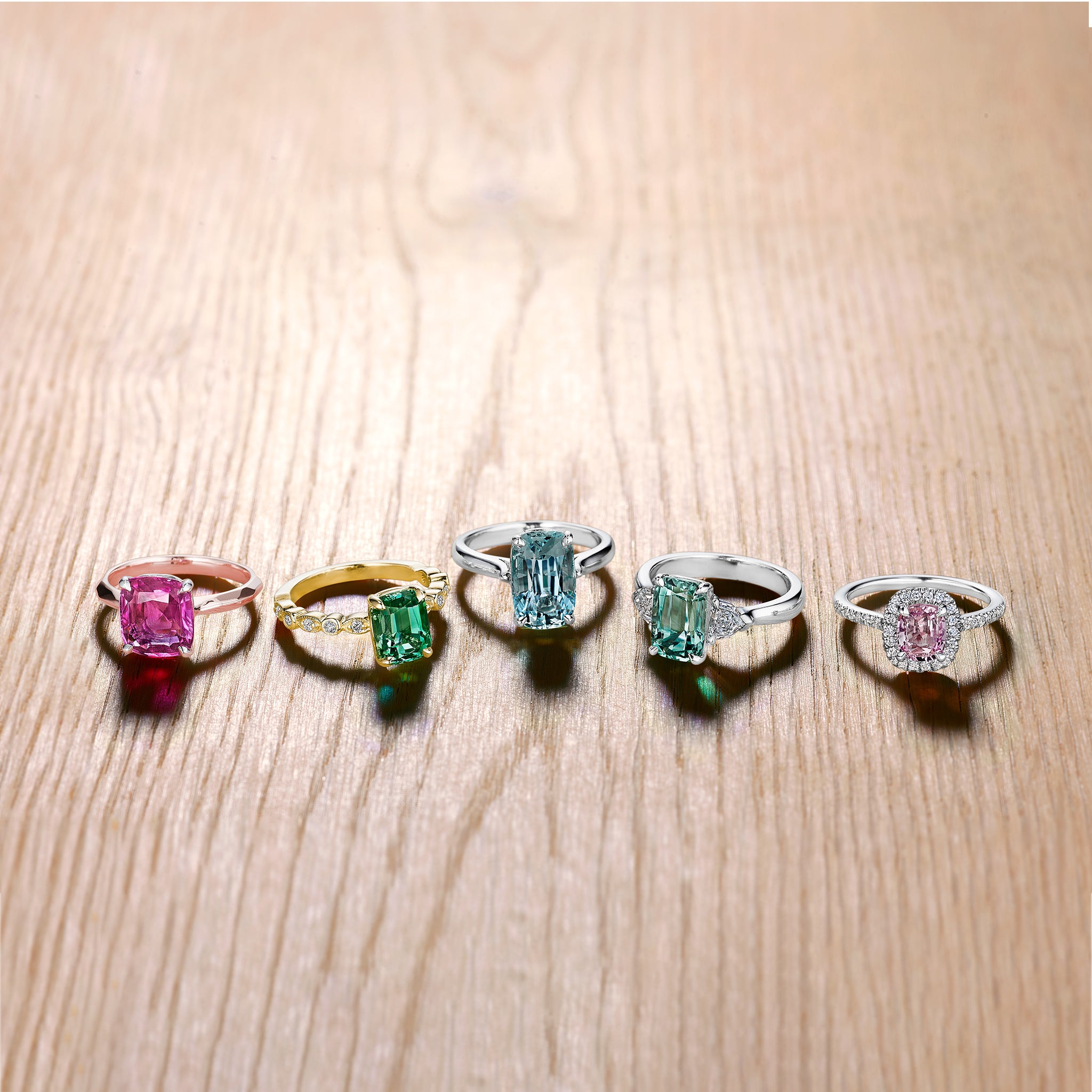 Mimi So Bridal Collection Multi-colored Gemstone Engagement Rings