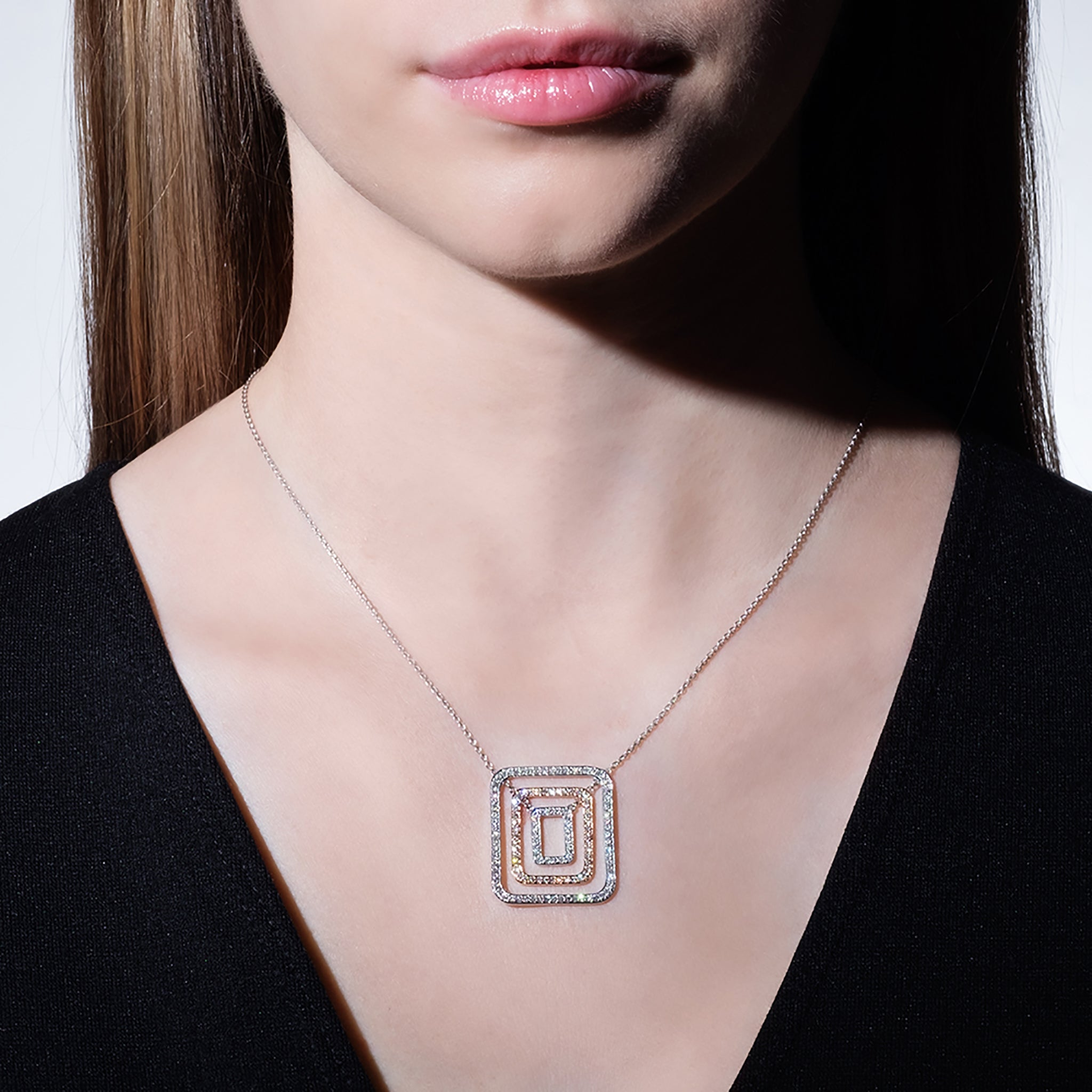 Mimi-So-Medium-Piece-Square-Swing-Necklace-18k-White-Rose-Gold