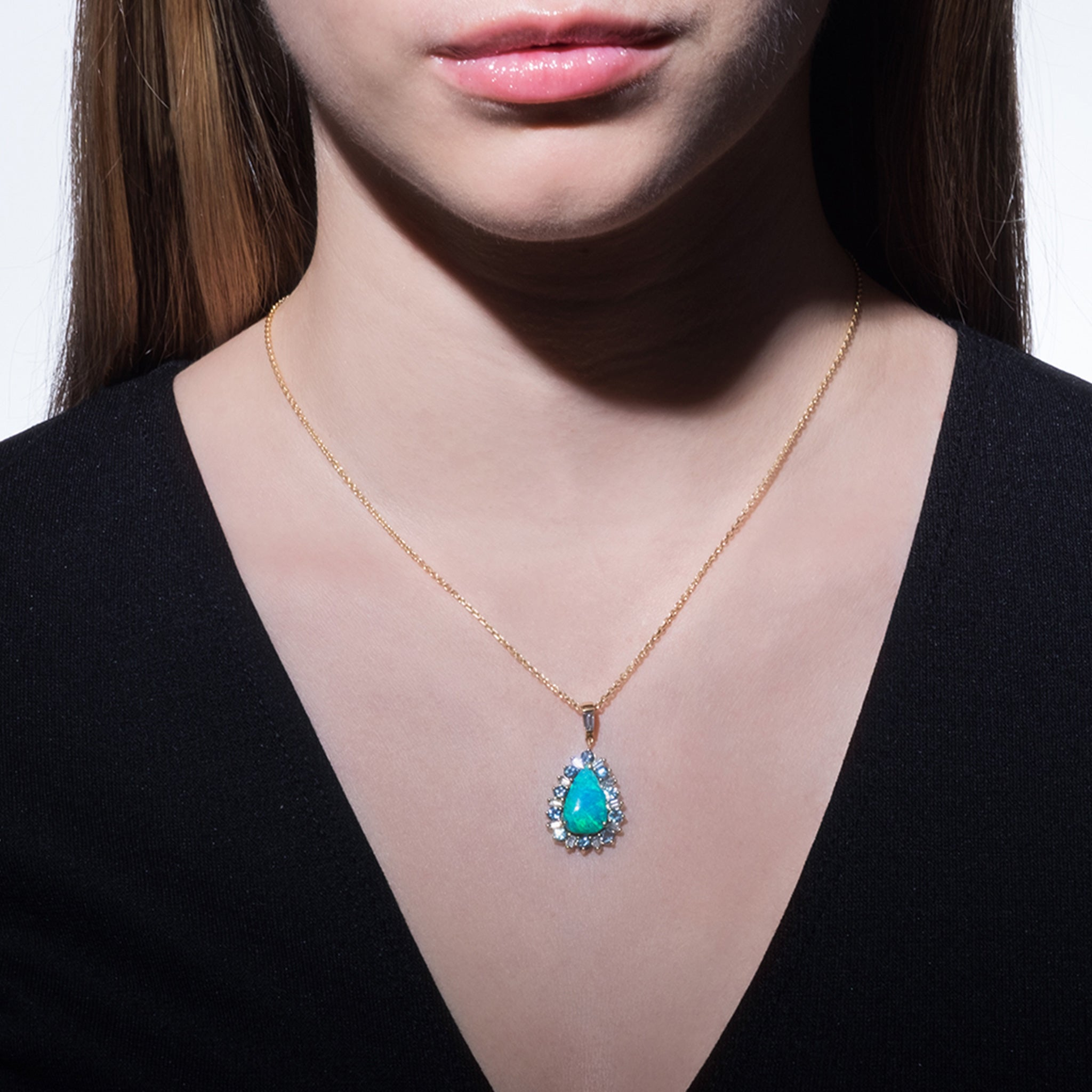 Mimi So Multi-Gemstone Boulder Opal Pendant Necklace