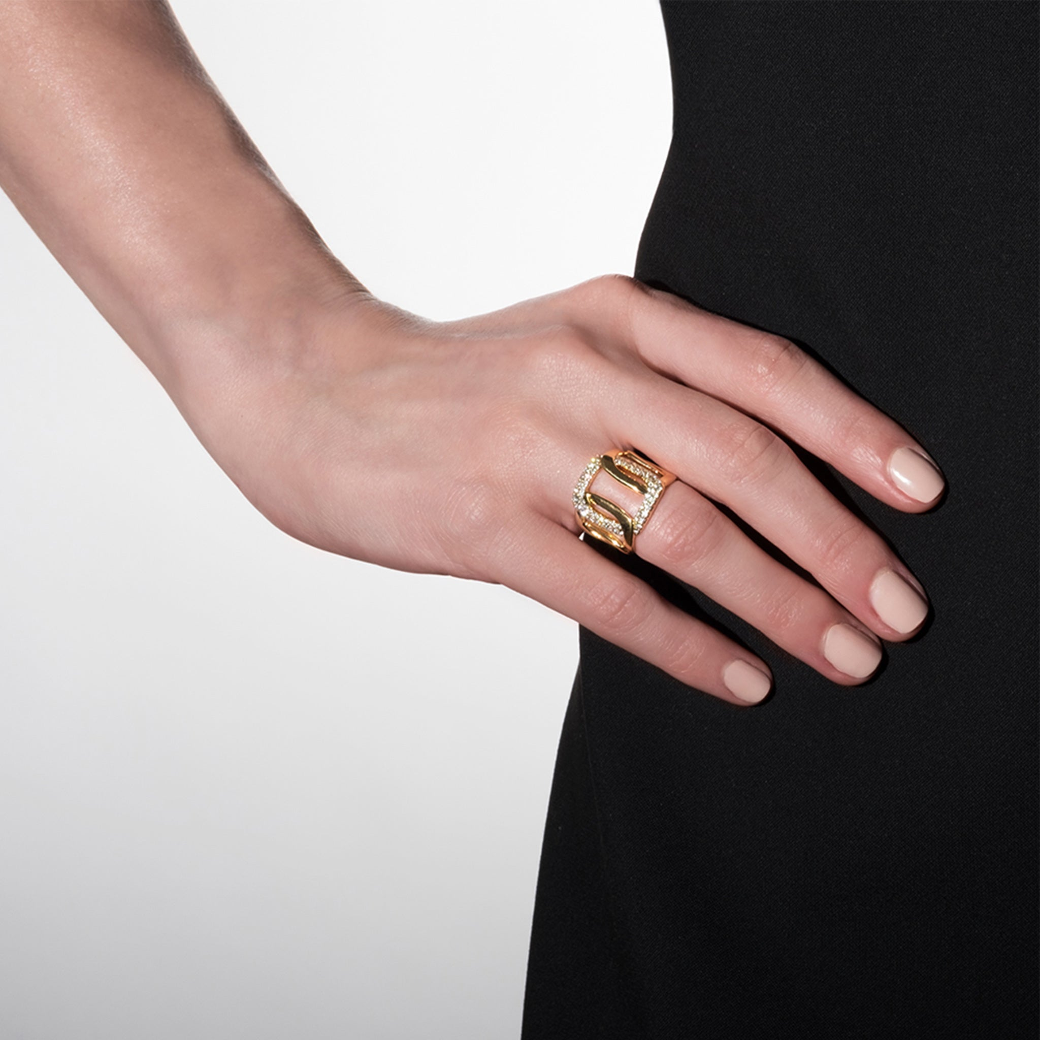 Mimi So Piece Link Ring 18k Yellow Gold
