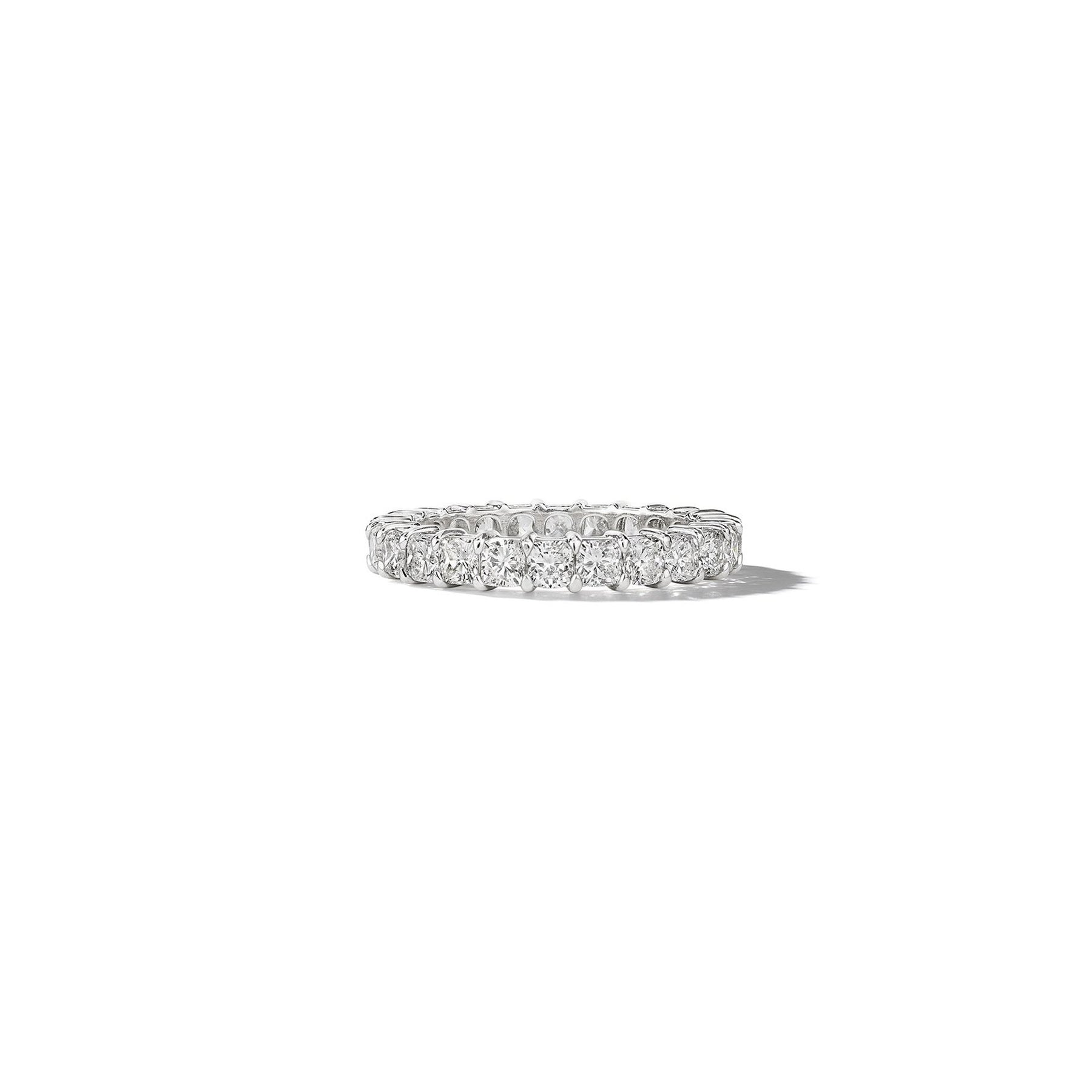 Cushion Cut Diamond Eternity Band_Platinum