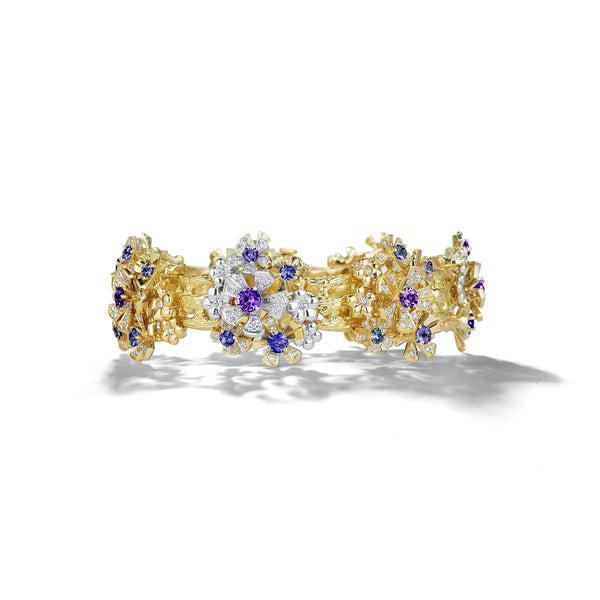 Wonderland Orchid Flower Bracelet_18k Yellow/White Gold