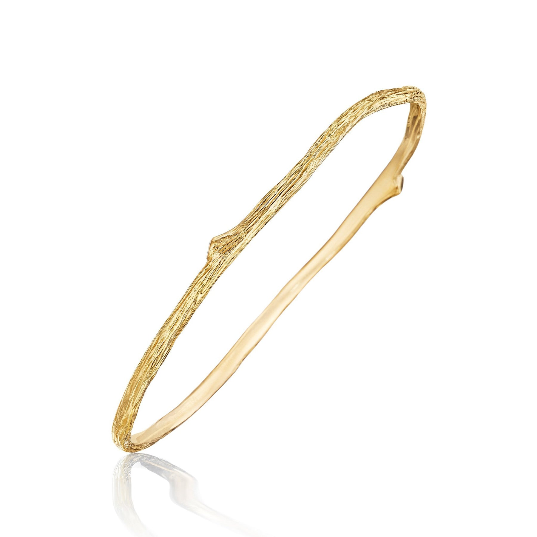 Wonderland-Oval-Twig-Bangle_18k Yellow Gold