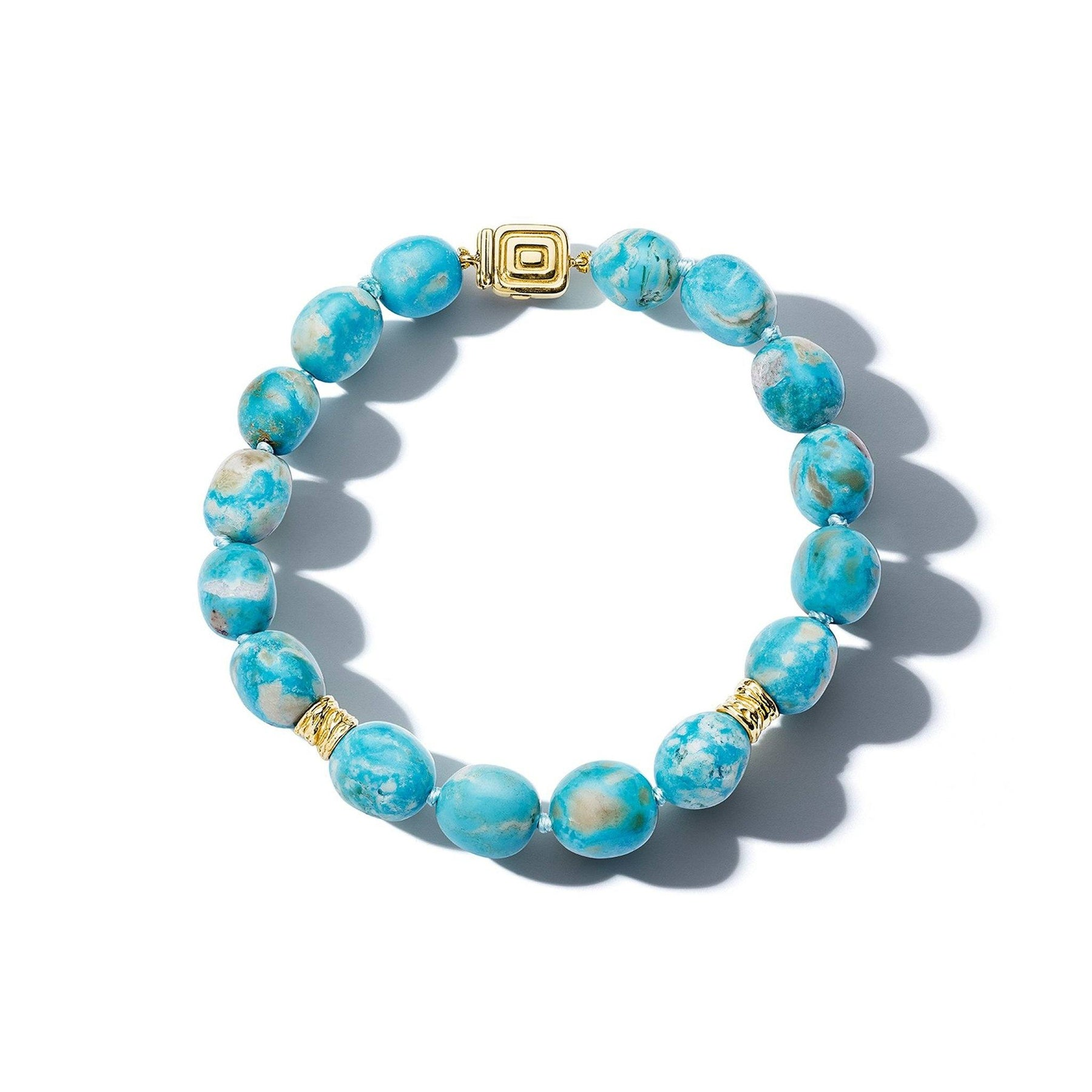 Mimi So Wonderland Turquoise Bead Bracelet_18k Yellow Gold