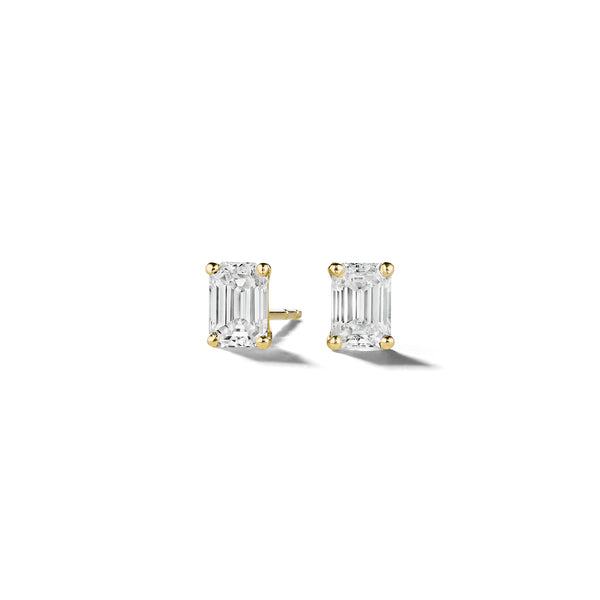 Mimi-So-Emerald-Cut-Diamond-Stud-Earrings_18k Yellow Gold