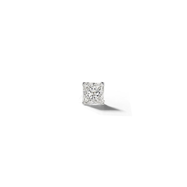 Mimi-So-Princess-Cut-Stud-Earring_14k White Gold